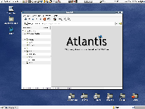 Screenshot of Atlantis, when it's started for the first time.