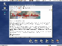 Screenshot of Atlantis rendering a web page.