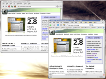 Screenshot of http://www.gnome.org/ both osb and firefox