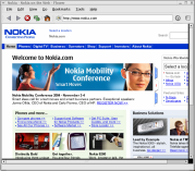Screenshot of http://www.nokia.com/